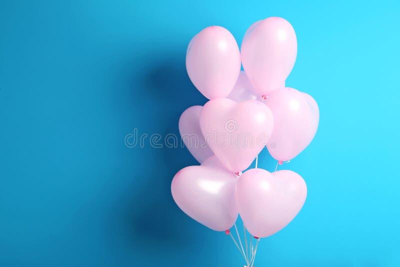 心脏气球 库存图片