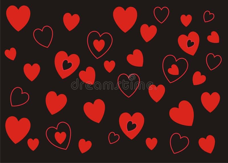 心脏永远仿造背景横幅 库存图片