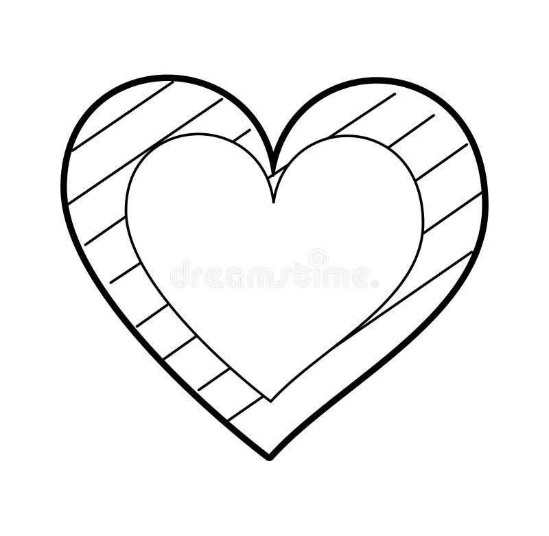心脏爱与条纹图表的言情激情 皇族释放例证