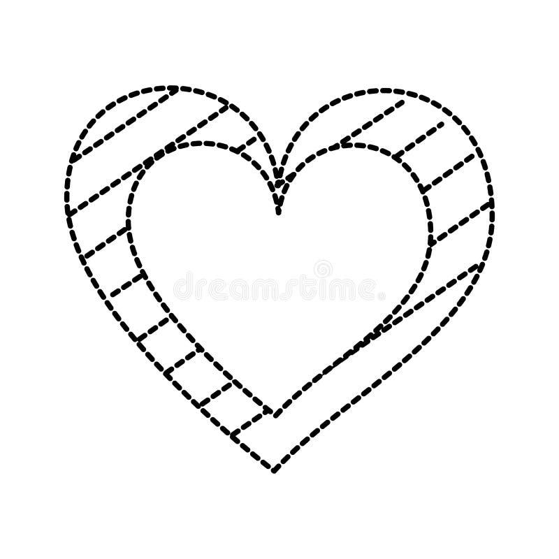 心脏爱与条纹图表的言情激情 库存例证