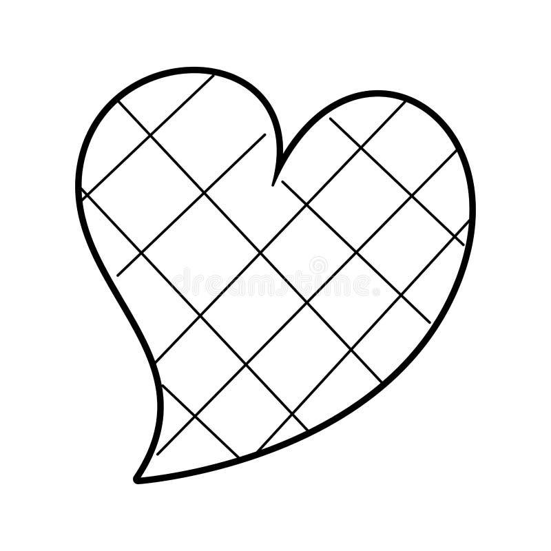 心脏爱正方形设计浪漫史激情 向量例证