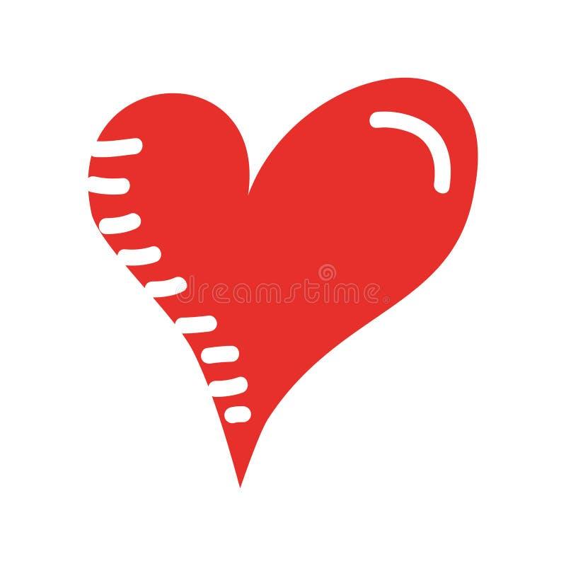 心脏爱言情激情拉长的设计 向量例证