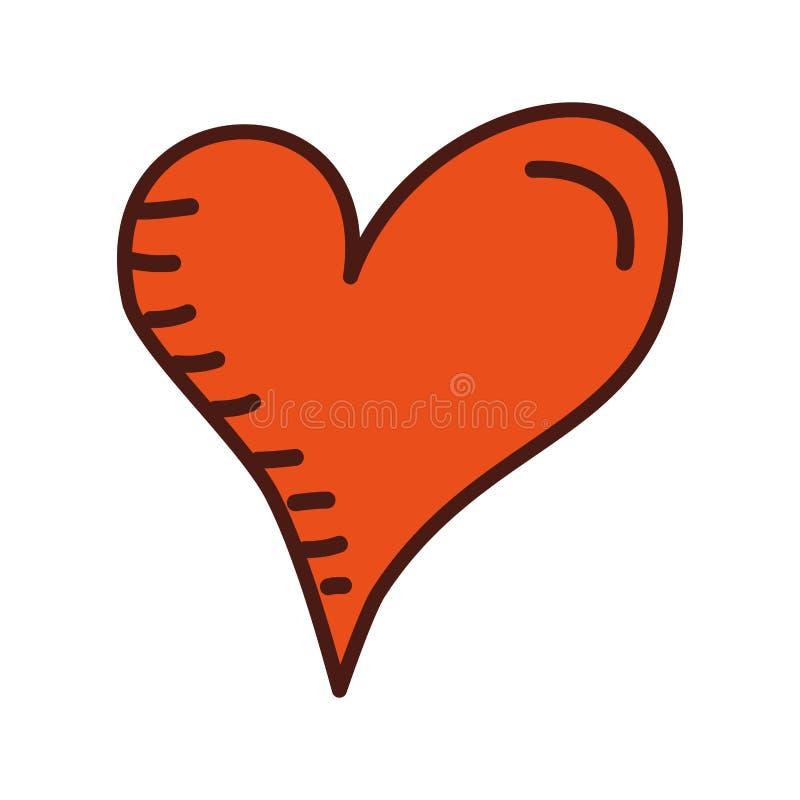 心脏爱言情激情拉长的设计 皇族释放例证