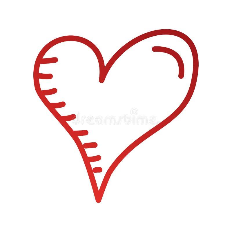 心脏爱言情激情拉长的设计 库存例证