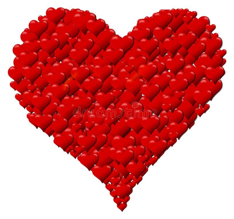 心脏由心脏做成为一个情人节或母亲节 库存图片