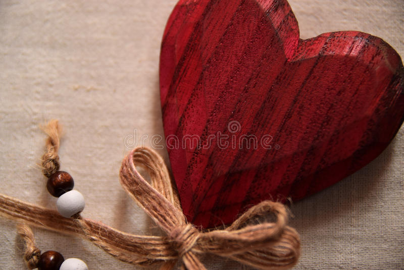 心脏由木头制成 免版税库存图片