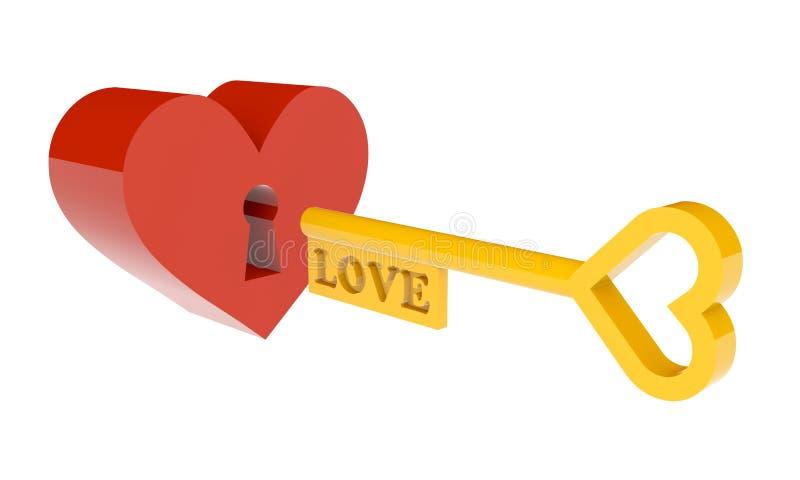 心脏由爱打开。 皇族释放例证