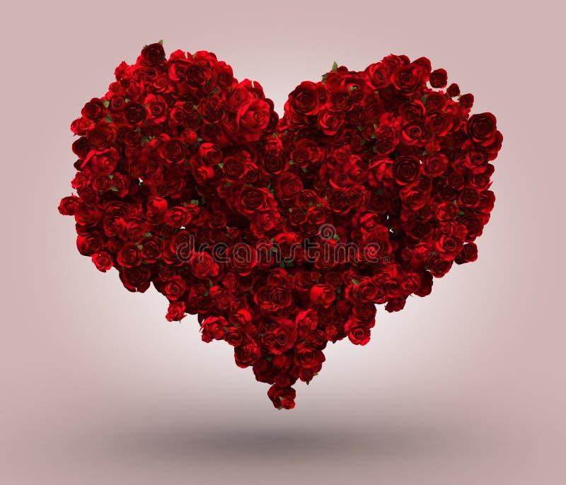 心脏由英国兰开斯特家族族徽做成 库存例证