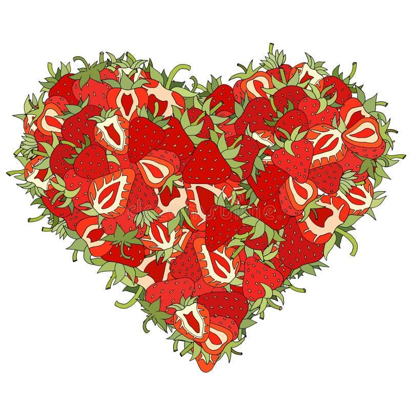 Download 心脏由草莓制成 向量例证. 插画 包括有 叶子, 茶点, 红色, 营养, 健康, 重点, 生气勃勃, 新鲜 - 59103477