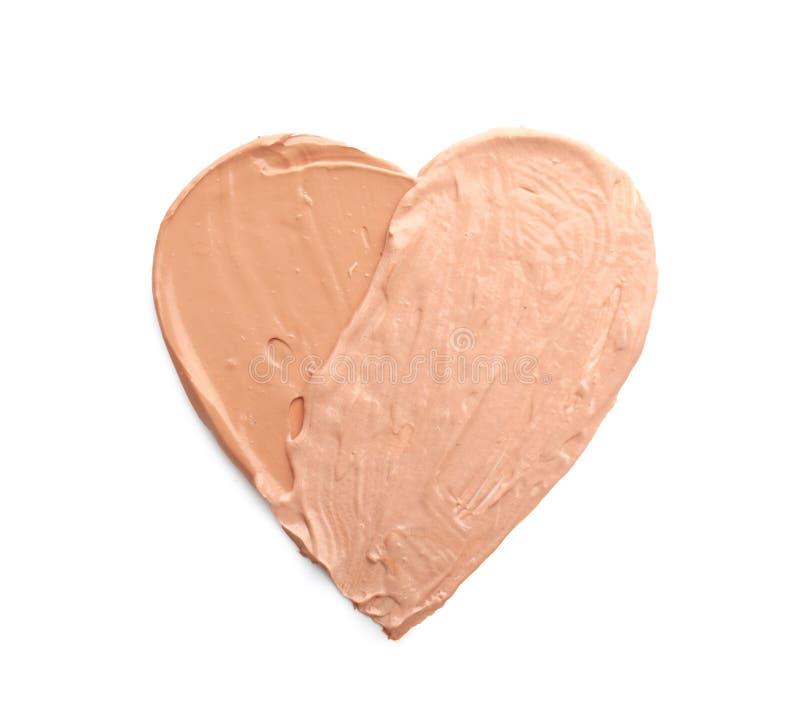 心脏画与在白色背景的音调的基础 库存图片