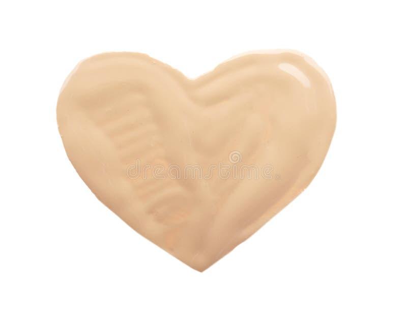 心脏画与在白色背景的音调的基础 免版税库存图片