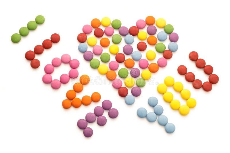 五颜六色的巧克力糖 库存照片