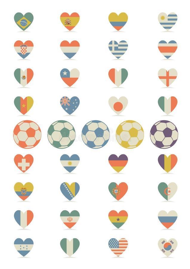 以心脏的形式旗子 免版税库存图片
