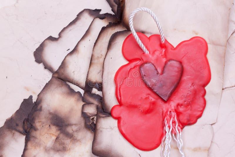 以心脏的形式标记 库存图片