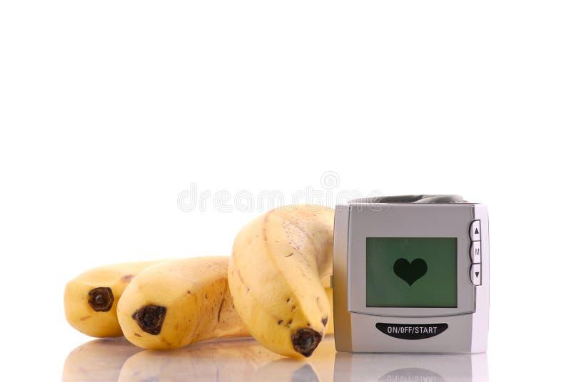 心脏监护器压 免版税库存照片