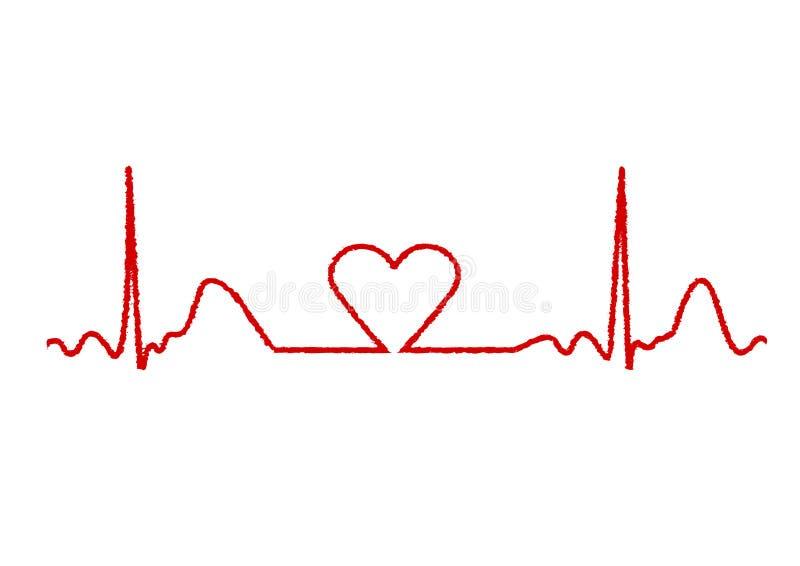 心脏监护器 向量例证
