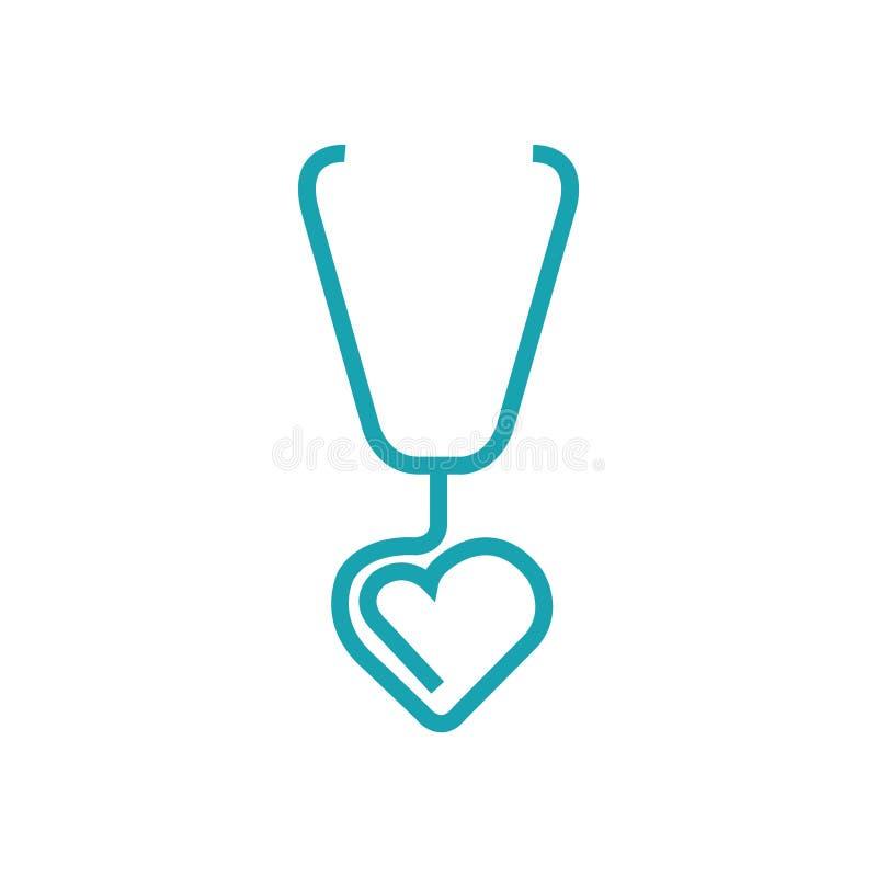 心脏科医师的听诊器 图库摄影