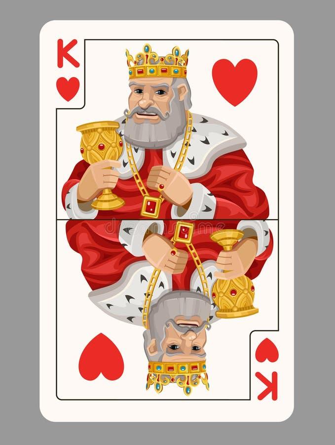 心脏纸牌的国王 皇族释放例证