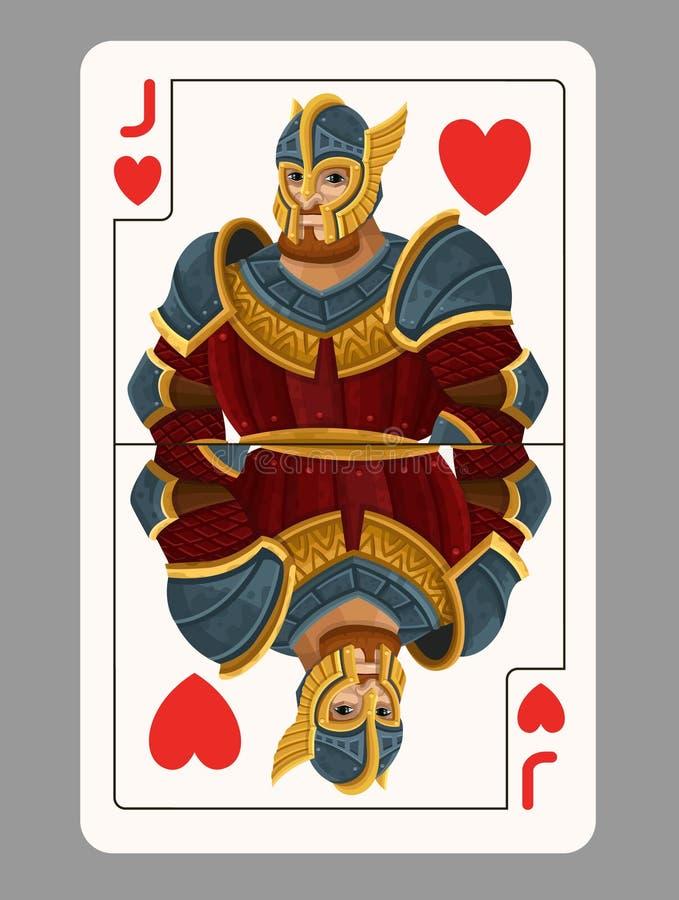心脏纸牌的杰克 皇族释放例证