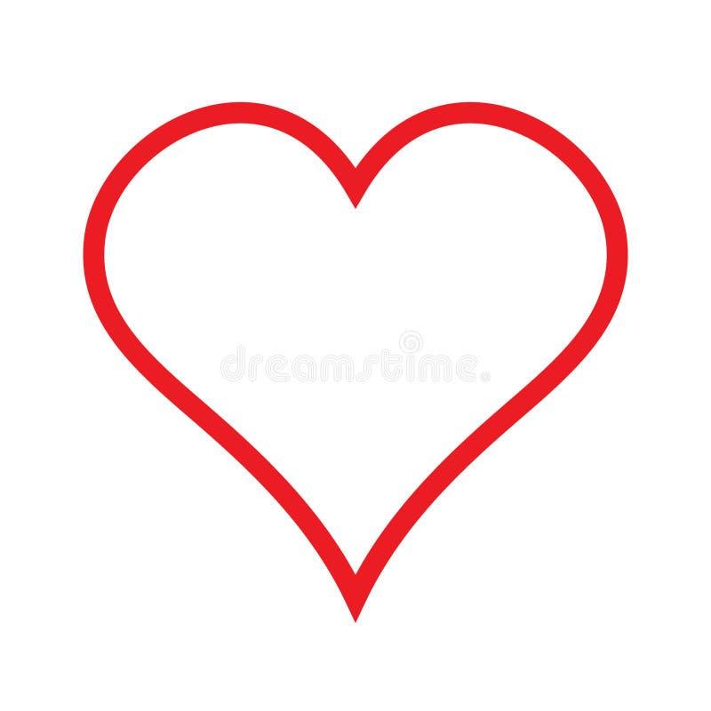心脏线性象,概述爱象 库存例证