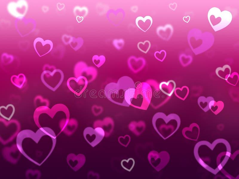 心脏背景意味拉丁文的爱和失踪 向量例证