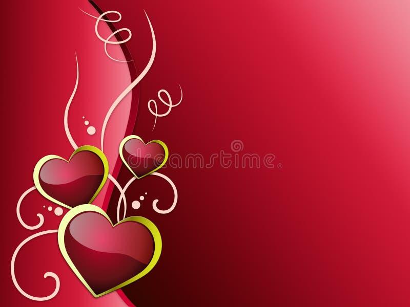 心脏背景意味浪漫主义激情和爱 库存例证