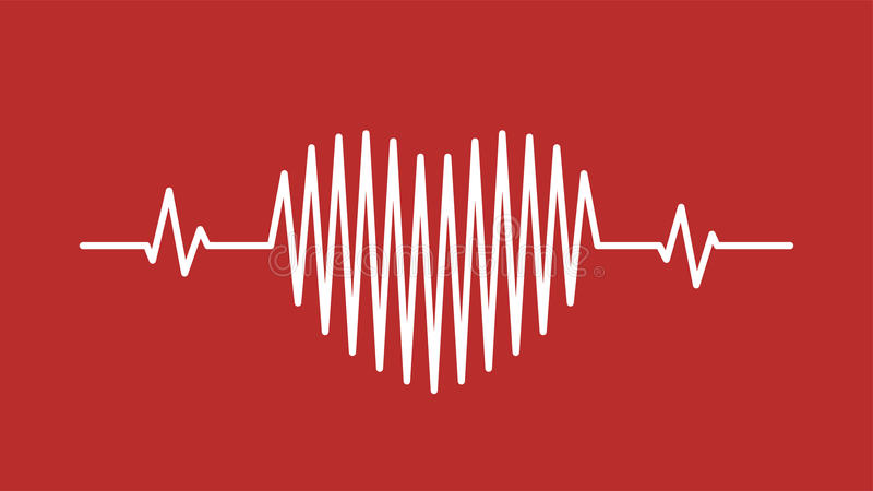 心脏脉冲声波象 库存例证