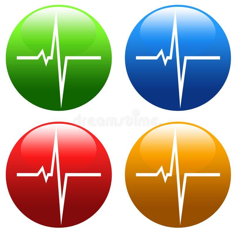 心脏脉冲 库存例证