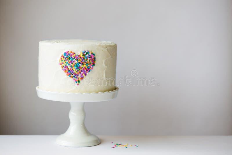 心脏蛋糕 库存照片