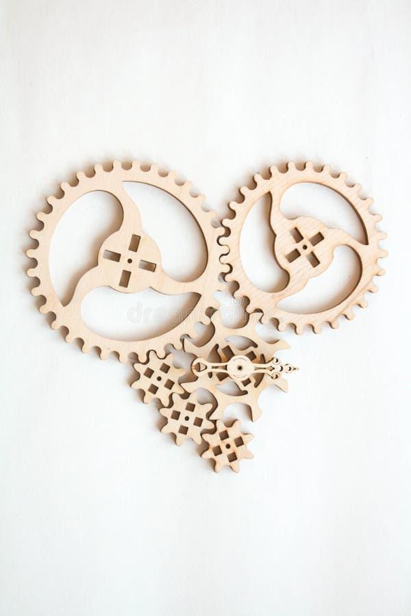 心脏被形成的轮子 图库摄影
