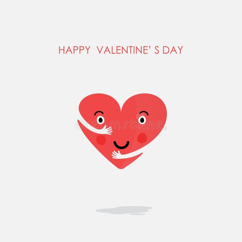 心脏象传染媒介商标设计模板 概念亲吻妇女的爱人 华伦泰` s 向量例证