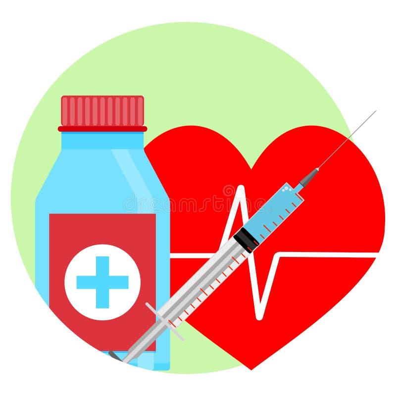 心脏象的药物 皇族释放例证