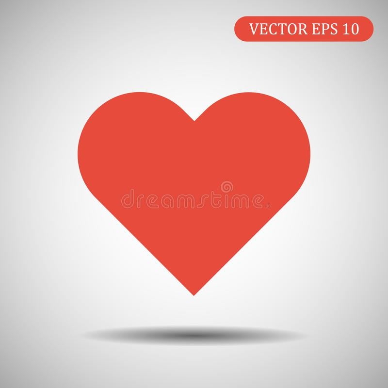 心脏象红颜色 10 eps例证盾向量 皇族释放例证