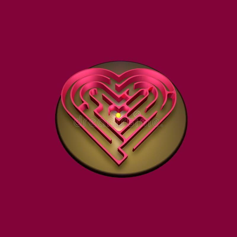 心脏迷宫 皇族释放例证