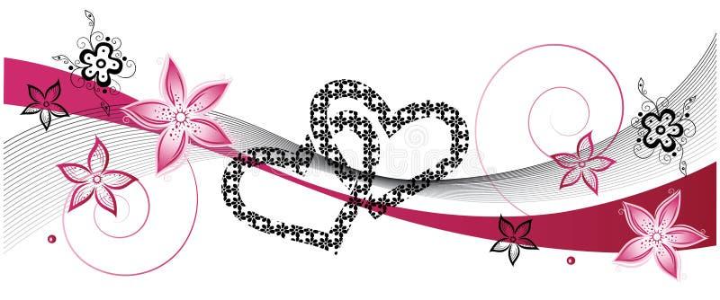 心脏,婚姻 库存例证