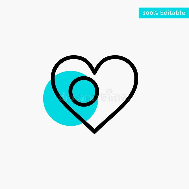心脏,Bangla,孟加拉国,国家,旗子绿松石聚焦圈子点传染媒介象 库存例证