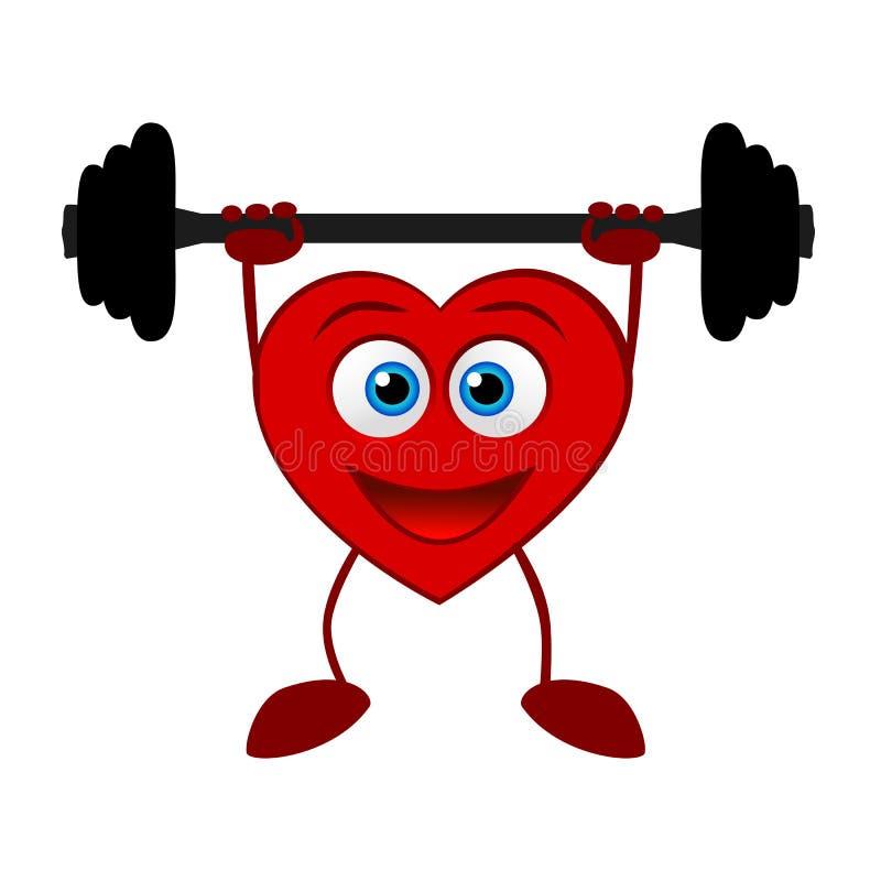 心脏 健康生活方式 库存例证