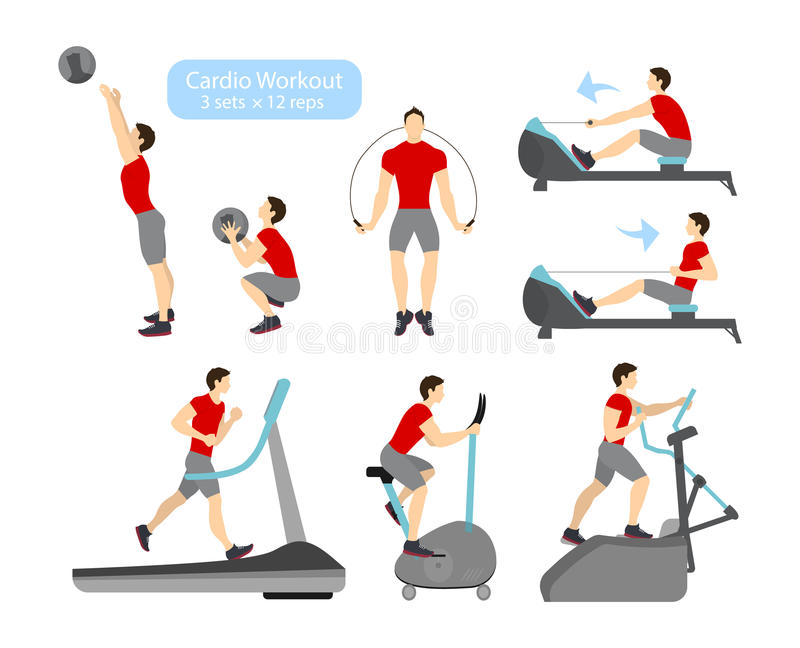 心脏锻炼锻炼 向量例证