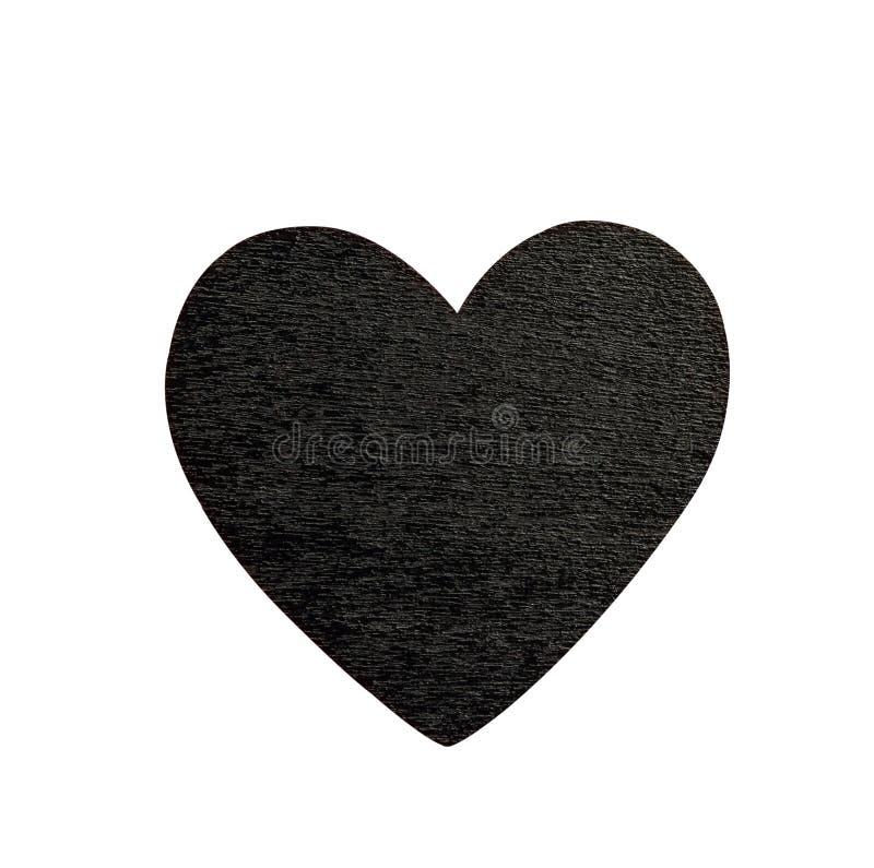黑心脏 免版税库存图片