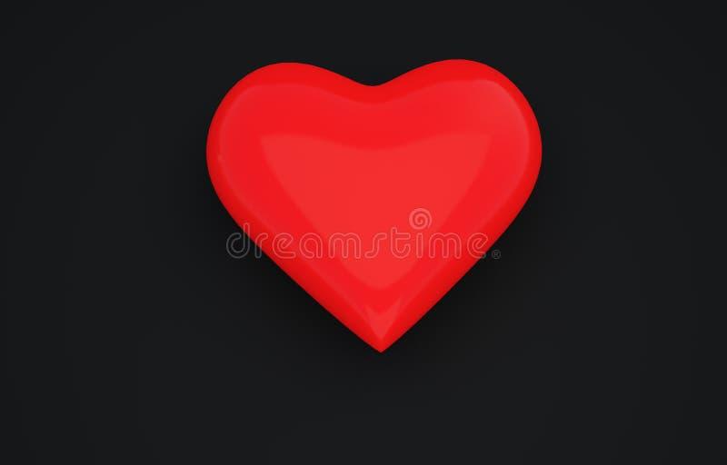 心脏3D照片 库存图片