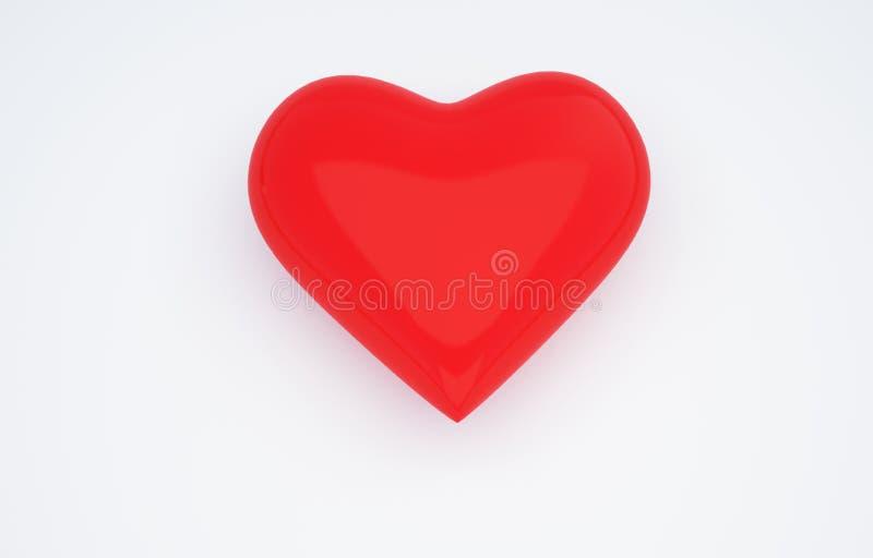 心脏3D照片 免版税库存图片