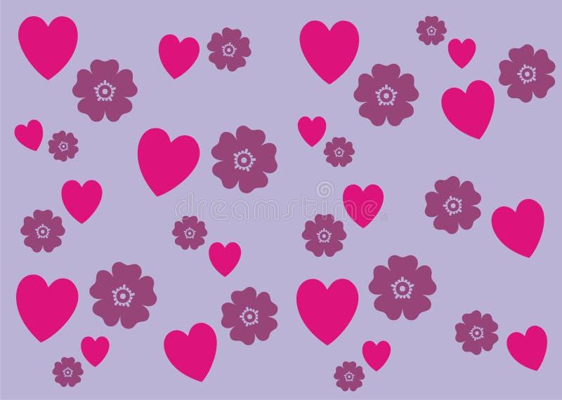 心脏n花纹花样背景横幅 库存照片