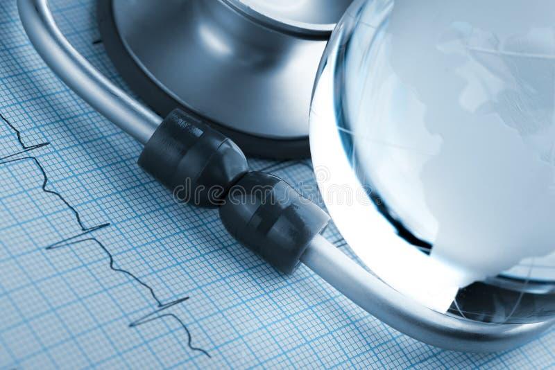 心血管病的流行在世界的 库存照片