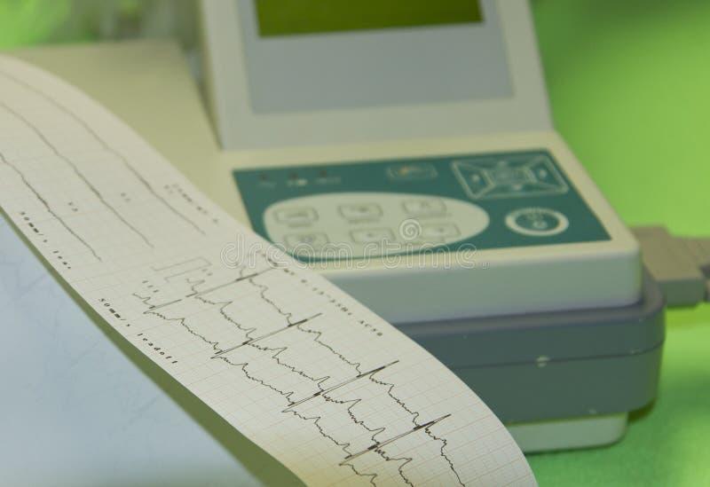 心跳显示器 免版税图库摄影