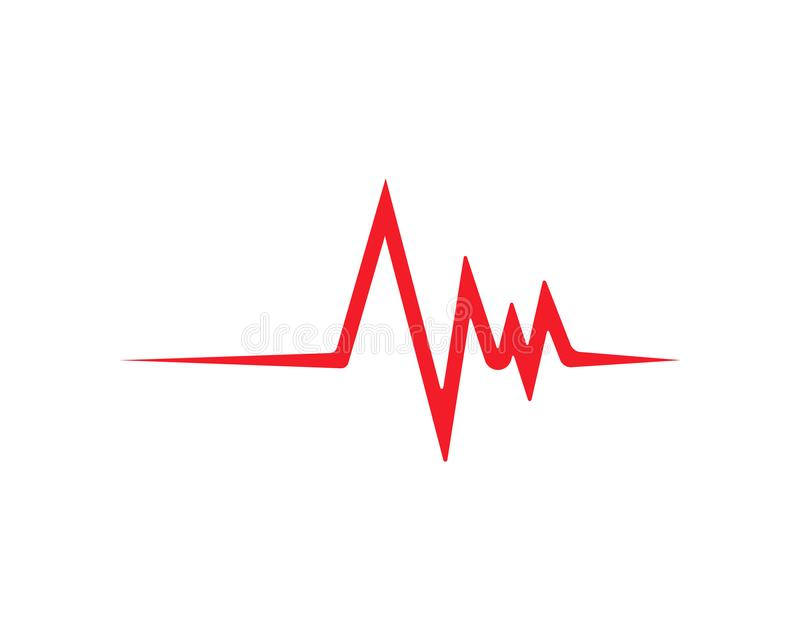 心跳线传染媒介模板 向量例证