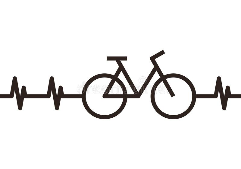 心跳自行车标志 向量例证