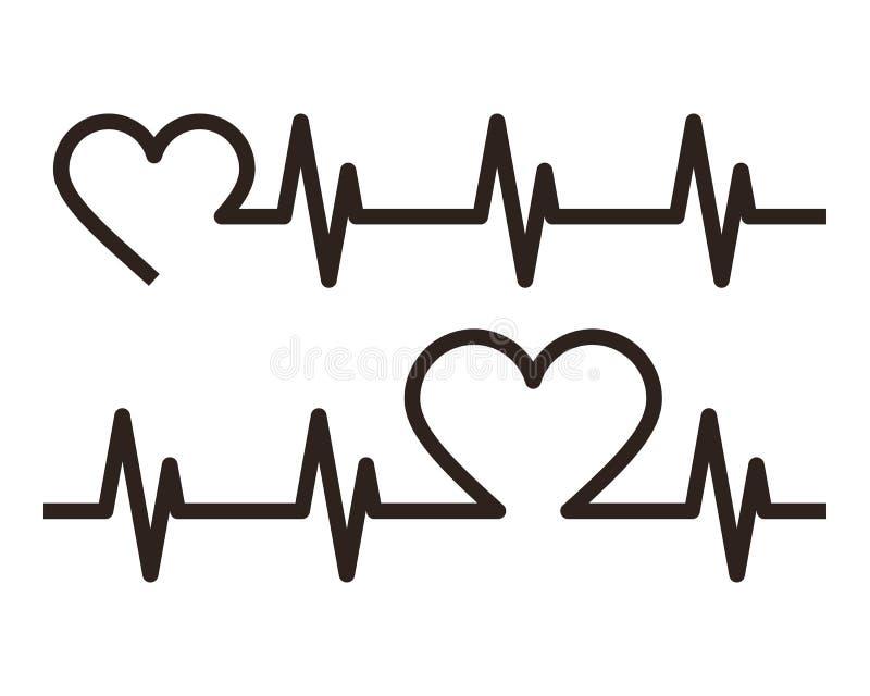 心跳象 心电图 向量例证