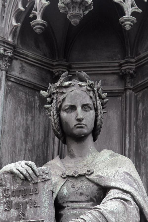 忒弥斯在希腊神话方面正义的女神 库存照片