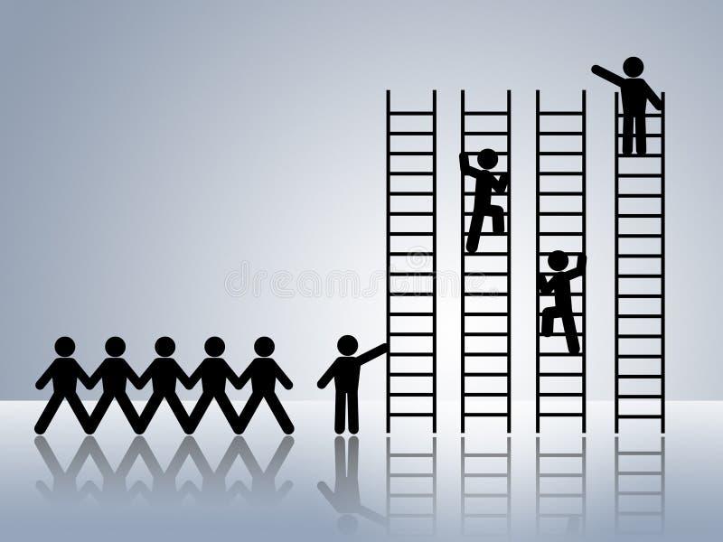 志向事业工作移动促销工作 库存例证