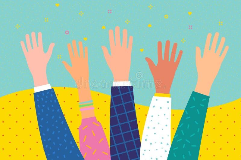 志愿或教育的概念 现有量上升了 库存例证
